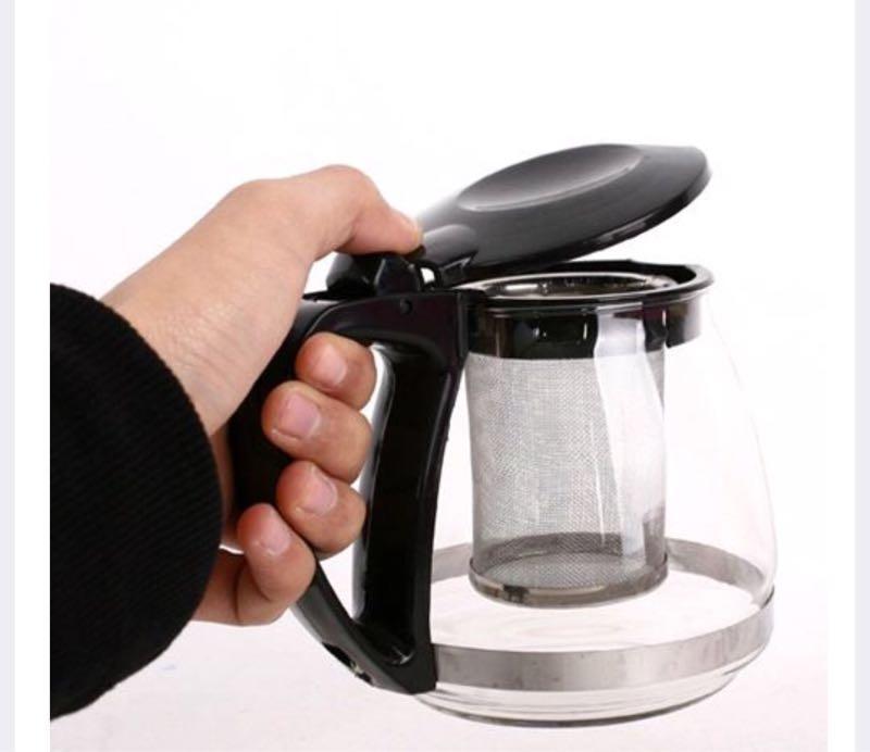 Bình lọc trà thủy tinh 1300ml màu ngẫu nhiên