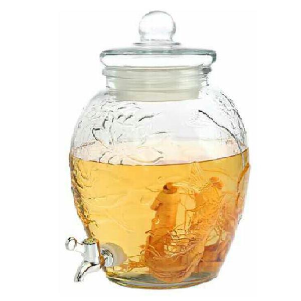 Bình chum hoa sen thủy tinh 15 lít có van