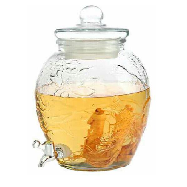 Bình chum hoa sen thủy tinh 25 lít có van