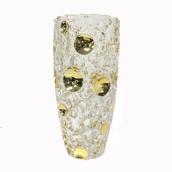 Lọ hoa chấm bi 2032 25cm nhủ vàng
